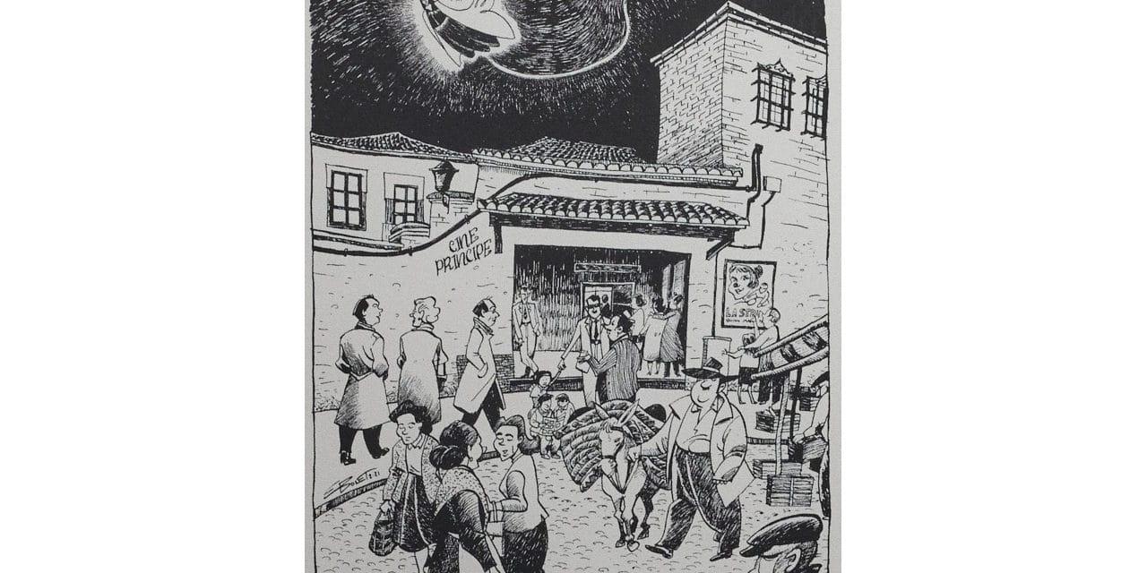 """Una ilustración de Enrique Bonet en la exposición colectiva """"El corazón manda"""""""