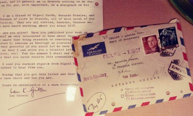 Carta de Ian Gibson a Penón