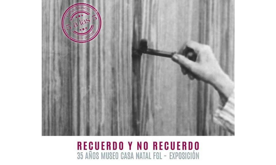 inaugurada en Fuente Vaqueros, la exposición, «Recuerdo y no recuerdo. 35 años de recuerdos de la Casa Natal DE FGL»